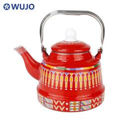 Wujo enamel 주전자 찻주전자 대형 찻주전자 주전자세트 주철 에나멜 티 주전자와 뚜껑