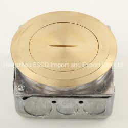 Abso Marken-Fußboden-Universaleinzelner Metallkasten-Kontaktbuchse-Duplexanschluß