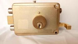 Segurança Cerradura Bloqueio da RIM com corrente de segurança e a placa da alavanca do cilindro