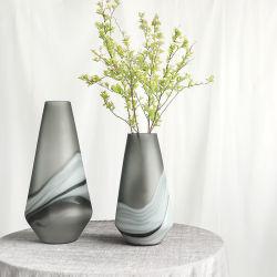 Mestieri semplici di lusso della decorazione del fiore della casa di arte del fiore della stanza del modello di disposizione di fiore del vaso della qualità superiore dell'indicatore luminoso nordico di vetro di stile