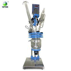 Revestimento duplo 100L reator de vidro multifuncional de alta pureza CDB