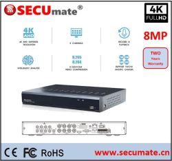 8 Kanal 8MP 4K H. 265 Videogerät des CCTV-Sicherheits-Mischling-DVR Xvr