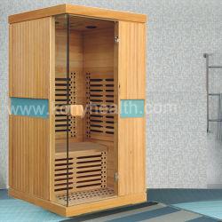 Schierling-Sauna gebildet vom reinen Holz mit Kohlenstoff-Heizung