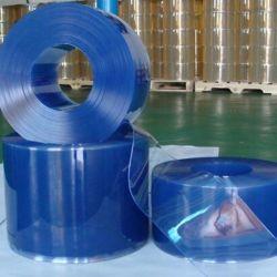 stroken van het Gordijn van 3mm Antipvc van de Vliegen van 2mm de Plastic Blauwe Transparante