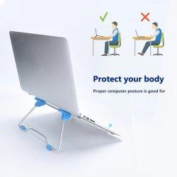 접이식 노트북 스탠드 높이 조절 가능한 알루미늄 합금 노트북 스탠드 브래킷 10-17인치 PC 노트북용 노트북 홀더