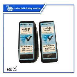 750 ml V410-D de alta calidad original de la impresora Videojet Cartucho de tinta compatible con el SGS RoHS certificado
