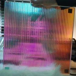 En Verre feuilleté personnalisé Reed dichroïque Rainbow Effet pour la construction de décoration
