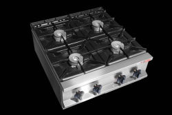 Stufa di gas della strumentazione della cucina con il Governo per l'hotel & il ristorante