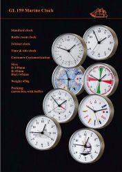 Antique البحري ساعة قياسية 159مم مقاومة للماء من الفولاذ المقاوم للصدأ