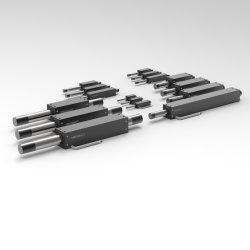 중국 공장 높은 정밀도 OEM ODM U 채널 Laser 절단 printing에 있는 편평한 Ironless 선형 샤프트 움직임 시스템 모터 액추에이터는 기계를 보았다