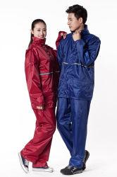 내구성이 뛰어난 RainSuit 남성용 100% PVC 방수 레인 수트 히트 용접 레인 코트 방수 오토바이 정장