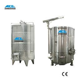 Корпус из нержавеющей стали вино ферментационный чан 5000L бак для хранения