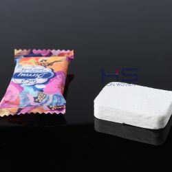 Asciugamano magico compresso in tessuto non tessuto con forma rettangolare