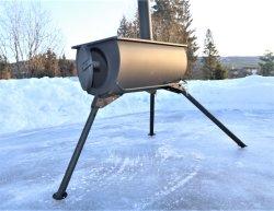 سهلة وبسيطة للتعامل مع Mini Wood Stove Camping في الهواء الطلق طباخ للخيام يخيّم في الهواء الطلق
