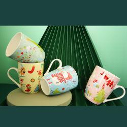 Оптовая торговля высокое качество Рождество кружки кофе Custom, горячая продажа Дизайн логотипа печать эмаль кружки кофе