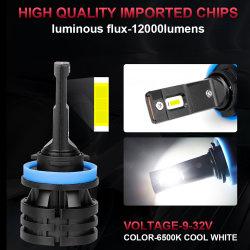 LED 차량용 헤드라이트 자동 조명 LED 헤드램프 H7 H4 9005 9006 HB4 HB3 H11 H8 6000K 백색 50W 12V 차량 액세서리