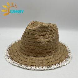 Venda por grosso de Praia Personalizado Verão Pala Fashion Papel unissexo chapéu Panamá