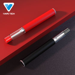 Serbatoio trasparente all'ingrosso CBD in ceramica batteria ricaricabile Vape Pen vaporizzatore E-sigaretta Pctg