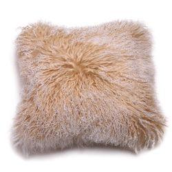 جلد خروف ضأن زخرفي رمي حقيبة وسادة