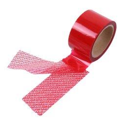 Barato de Fábrica Personalizada coloridos de segurança impressos camuflagem adesiva Void fita para embalagem da caixa