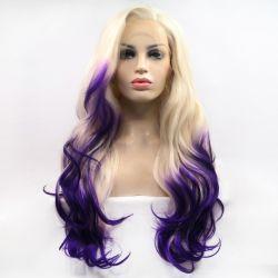 유럽 및 미국 화학 섬유 그래디언트 색상 Wig Lace Chemical Fiber High Temperature Silk Half-hand 직물 반머신 이전