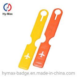 Barato de forma personalizada França PVC maleável/ Borracha/Avião de plástico Saco de viagem a Etiqueta de Nome da companhia aérea a etiqueta de bagagem para promoção dons