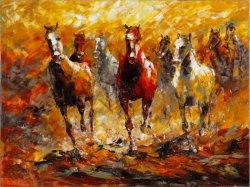 La Decoración de pared Pintura al Óleo de caballos e impresiones para decoración de interiores
