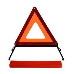 مثلث الطوارئ الآمن العاكس مثلث التحذير من الطرق قابل للطي الاتحاد الأوروبي على الطريق علامات تنبيه الخطر مع علبة تخزين لملحقات الطوارئ في السيارة