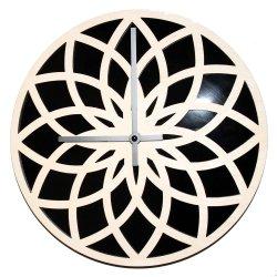 Factory bricolaje decorativo precioso reloj de pared de madera con grabado láser