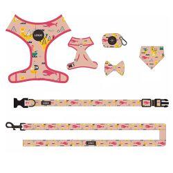 卸し売り注文のロゴ PVC の犬のハーネスの容易さの Collar の Subimation パターン ドッグリーシュカラーおよびハーネス