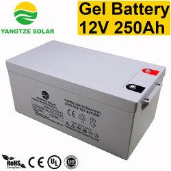10 лет жизни 12V 250Ah глубокую цикла гель для батареи солнечной панели солнечных батарей