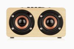 W5 Explosion maison en bois de style haut-parleur Bluetooth Ordinateur Corporate Gift Logo personnalisé petite usine Audio Les ventes directes