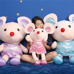 Alta qualidade dos desenhos animados de pelúcia Bonitinha Rato brinquedo com muitas cores para as crianças presentes