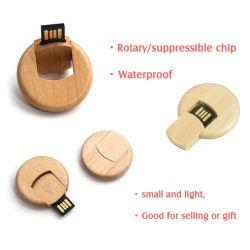 محرك أقراص USB محمول خشبي صديق للبيئة عصا الفلاش