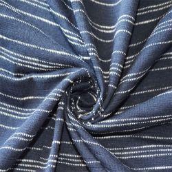 Textil Yigao 100% de los hilados de algodón teñido de Single Jersey Stripe Tejido