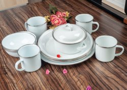 Camping esmalte esmalte Houseware/Set/Esmalte juego de té