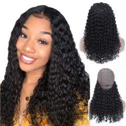 Kbeth フルレースウィッグ、ブラックレディ 13X4 ディープウェーブ用 100% 人間の再生毛、ベビーヘア(ブラジル領バージン) 150% 密度 Wig 、 HD レースフロントクロージャー付き