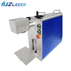 bearbeitet intelligente Metallmaterial-Faser-Laser-Markierung der Uhr-3D 10W 20W 30W 50W Faser mit Dreheinheit maschinell