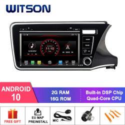 Processeurs quatre coeurs Witson Android 10 Lecteur de DVD de voiture pour Honda City 2014 Rhd construit en fonction de DAB+