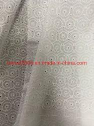100% Pura Flor pequeña blanca bordada de algodón telas para ropa para niños
