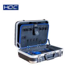 Le Stockage étanche en aluminium personnalisé transportant mallette à outils en plastique dur