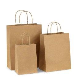Zurückführbarer Einkaufen-Geschenk-Packpapier-Lebensmittelgeschäft-Beutel mit Griff