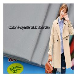 Tessuto misto personalizzato cotone Poly slub Spandex Twill for Abbigliamento indumenti casual