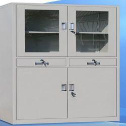 4 Puertas 2 Cajones armario cajón de metal de la presentación de los muebles de oficina