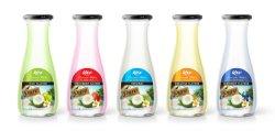 زجاجة زجاجية من السلسلة الجديدة سعة 1 لتر ومياه جوز الهند