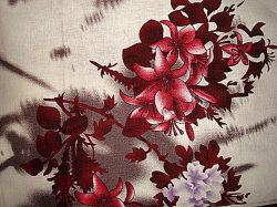 Постельное белье и домашний печати линии Ramie ткань