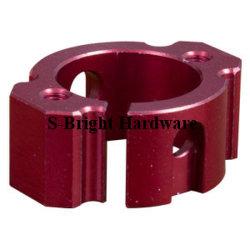 Kundenspezifisches Präzisionsaluminium 7075-T6 CNC-Frästeil für 9-Polige elektrische Steckverbinderhalterung (S-106)