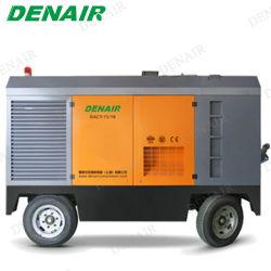 175kw de draagbare Compressor van de Diesel Lucht van de Schroef met in openlucht Gebruikte Wielen