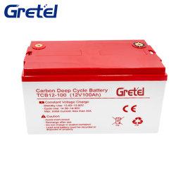 Lead-Carbon аккумулятора повышенного срока службы, Deep-Cycle 12V100ah аккумуляторная батарея для ветровой энергии системы хранения данных/солнечные энергетические системы хранения данных/Стрит лампа/электронного оборудования