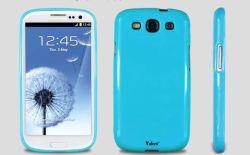 青いTPU色SoftrubberはSamsung I9300 Samsung S3 Siiiのための韓国の水星の裏表紙に細合った